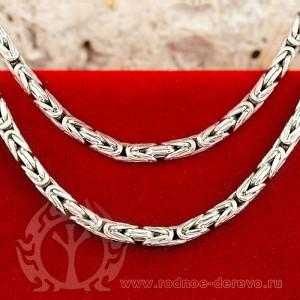 Византийская цепь из серебра толщина 3,2мм